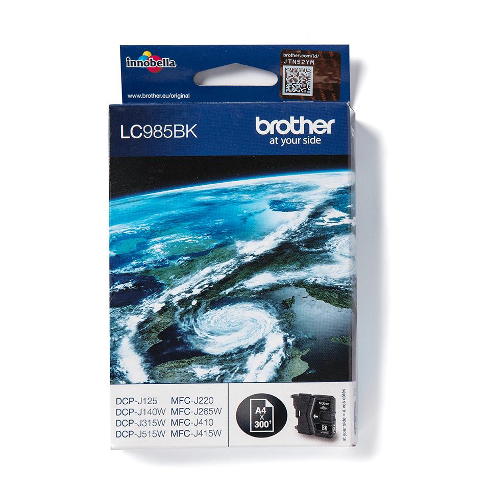 Brotherin alkuperäinen LC985BK-värikasetti – Musta