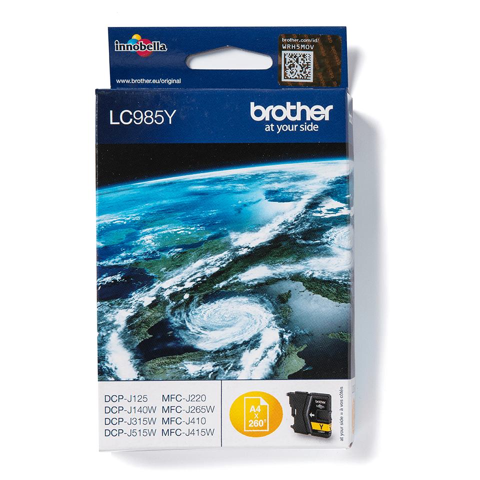 Brotherin alkuperäinen LC985Y-värikasetti – Keltainen