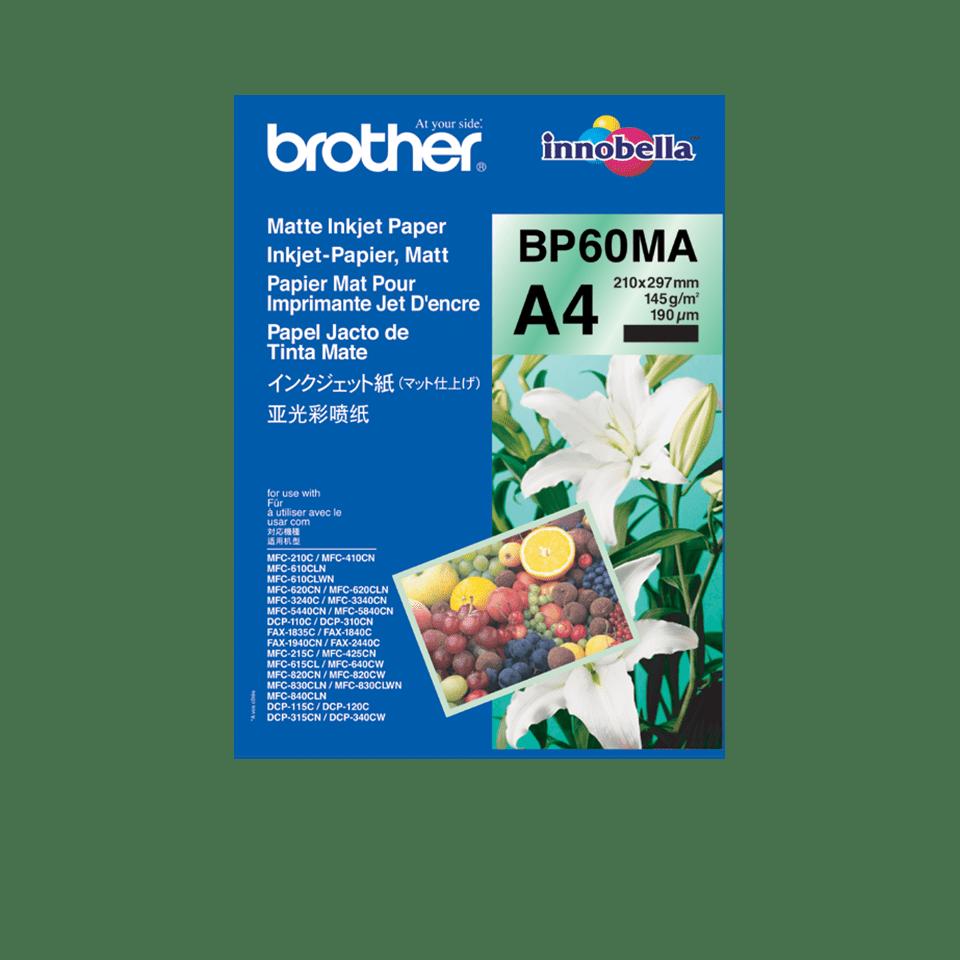 Brotherin alkuperäinen BP60MA A4-mattapaperi mustesuihkutulostimille