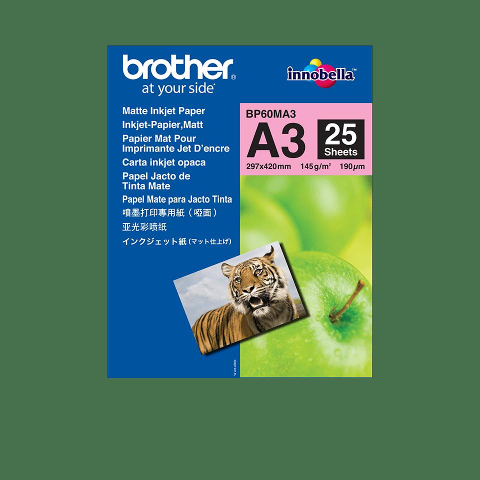 Brotherin alkuperäinen BP60MA3 A3-mattapaperi mustesuihkutulostimille