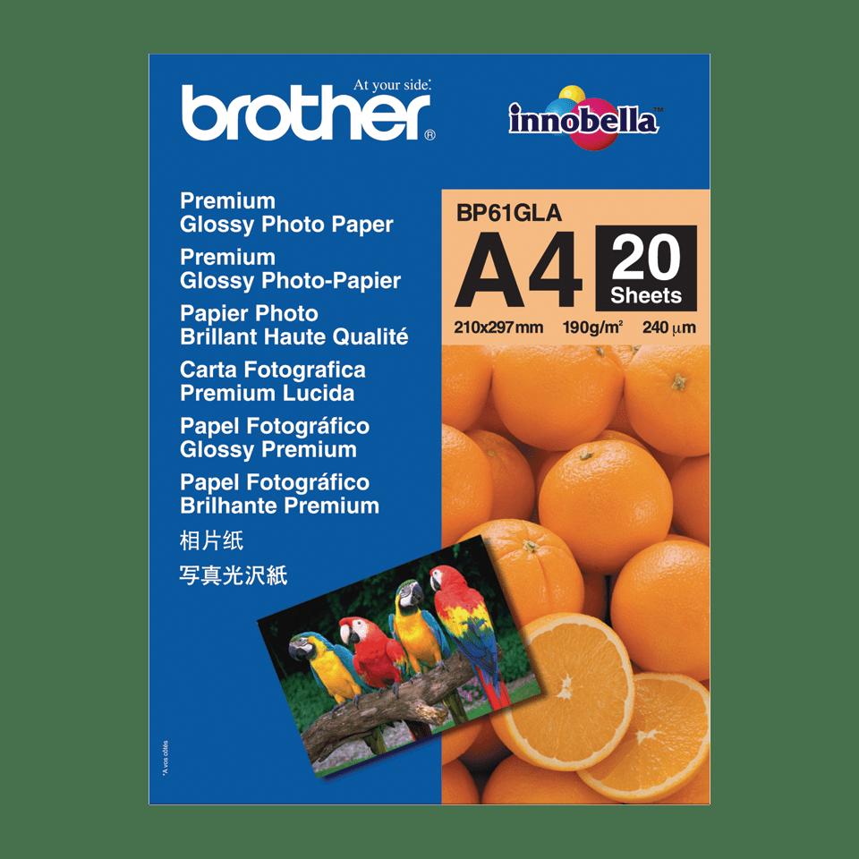 Brotherin alkuperäinen BP61GLA kiiltävä A4-valokuvapaperi