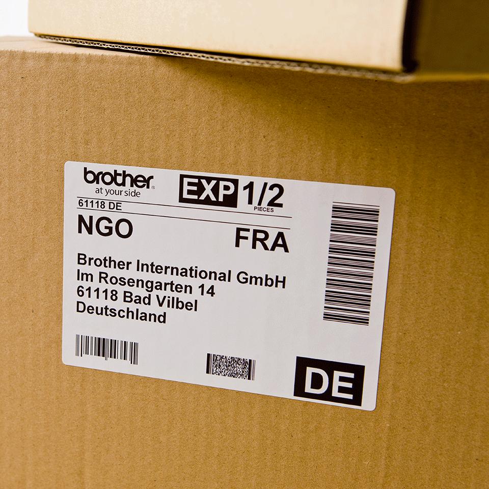 Brotherin alkuperäinen DK11202-rullatarra - Musta/valkoinen, 62 x 100 mm 2