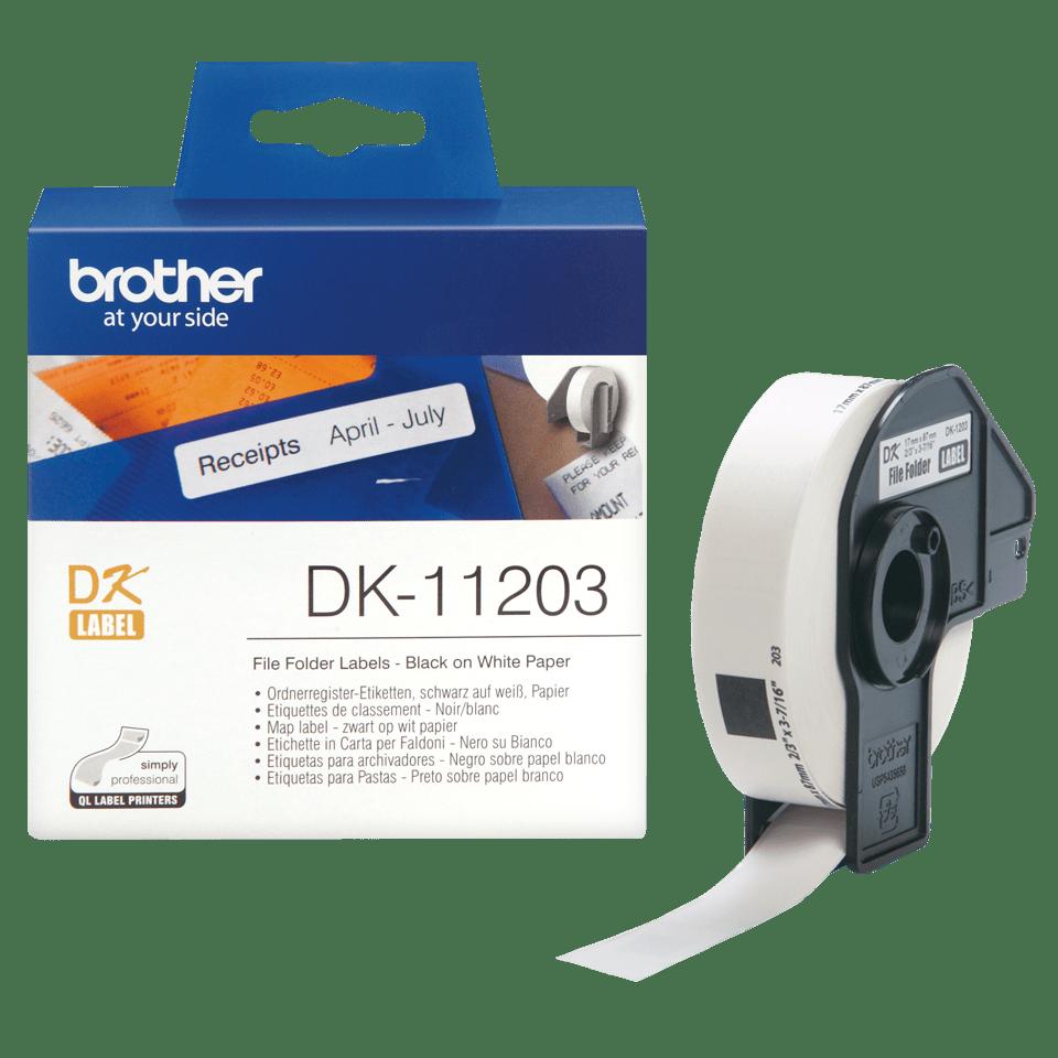 Brotherin alkuperäinen DK11203-rullatarra - musta/valkoinen  3