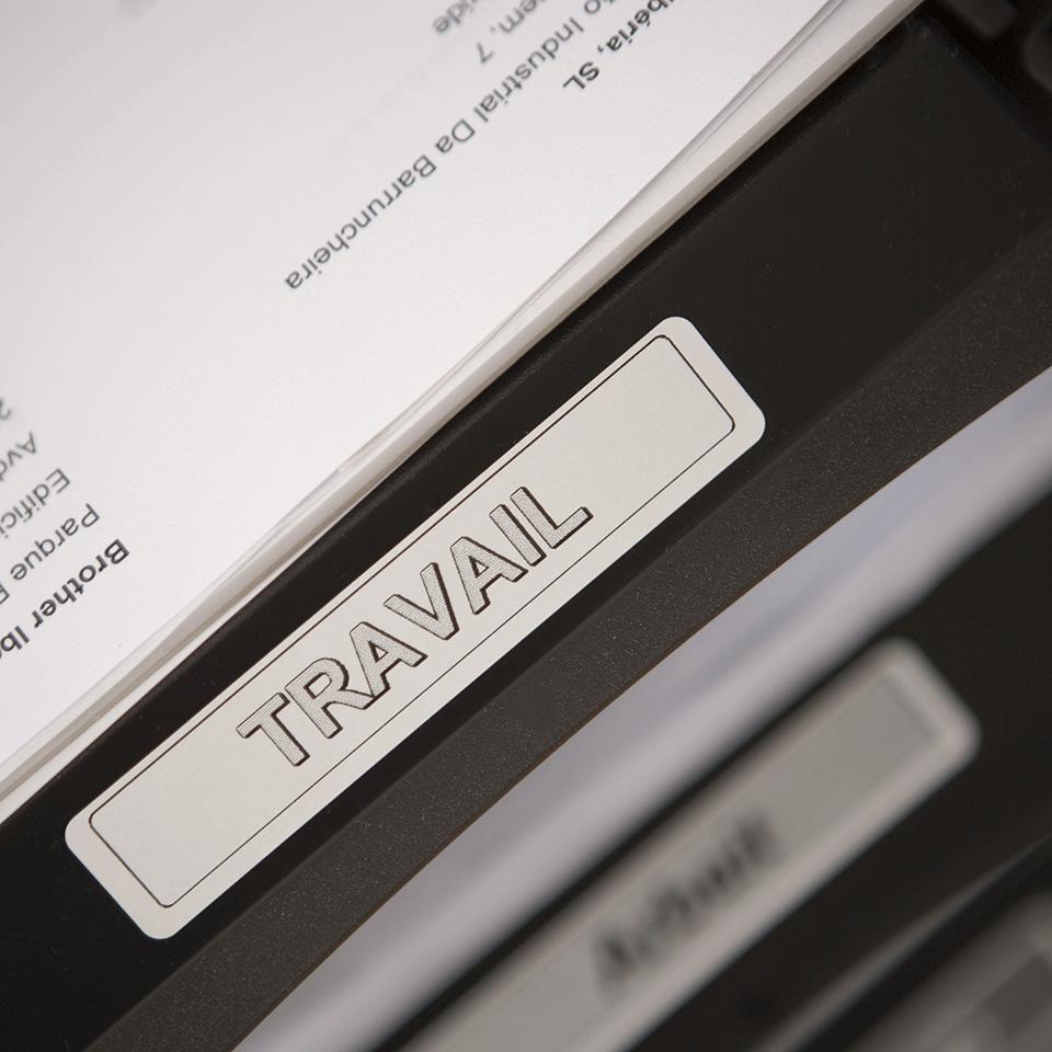 Brotherin alkuperäinen DK11204-rullatarra – musta/valkoinen 2