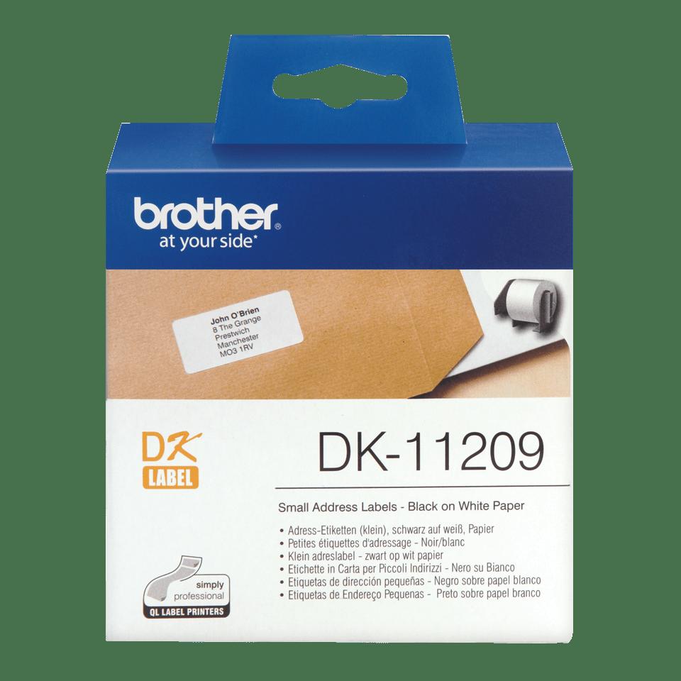 Brotherin alkuperäinen DK11209-osoitetarrarulla - Musta/valkoinen, 29 x 62 mm