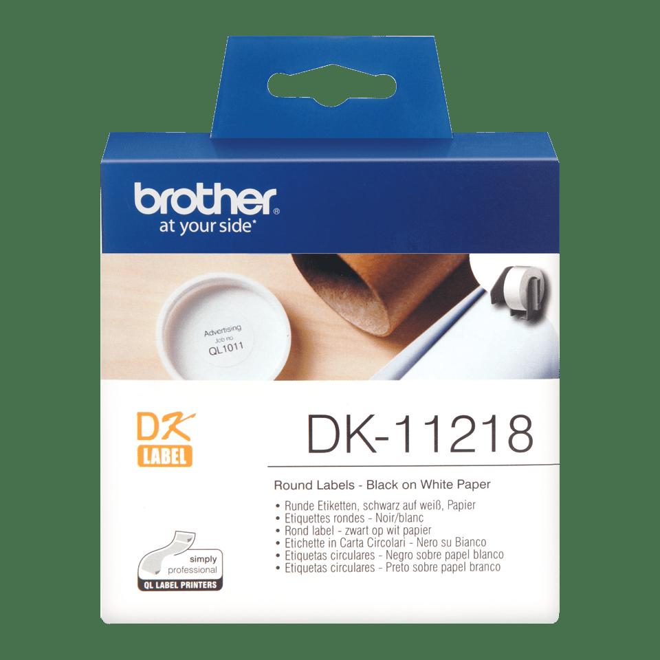 Brotherin alkuperäinen DK11218-rullatarra – musta/valkoinen