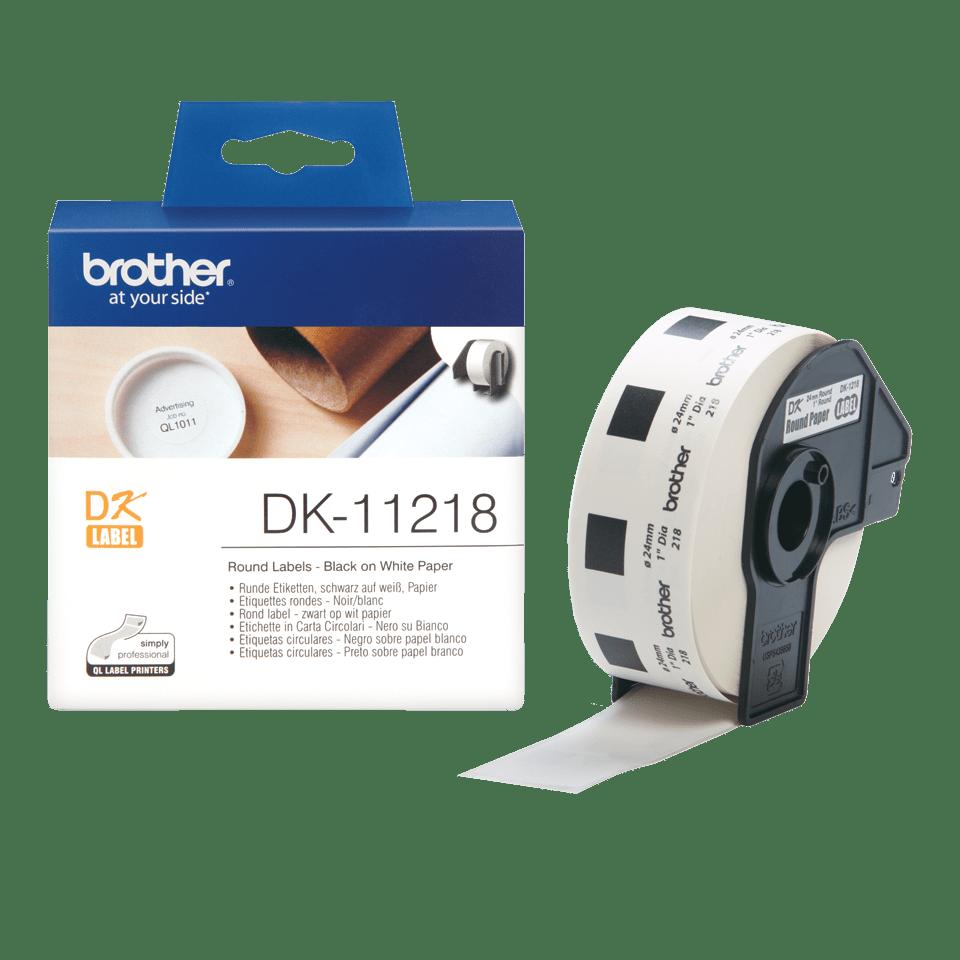 Brotherin alkuperäinen DK11218-rullatarra – musta/valkoinen 3