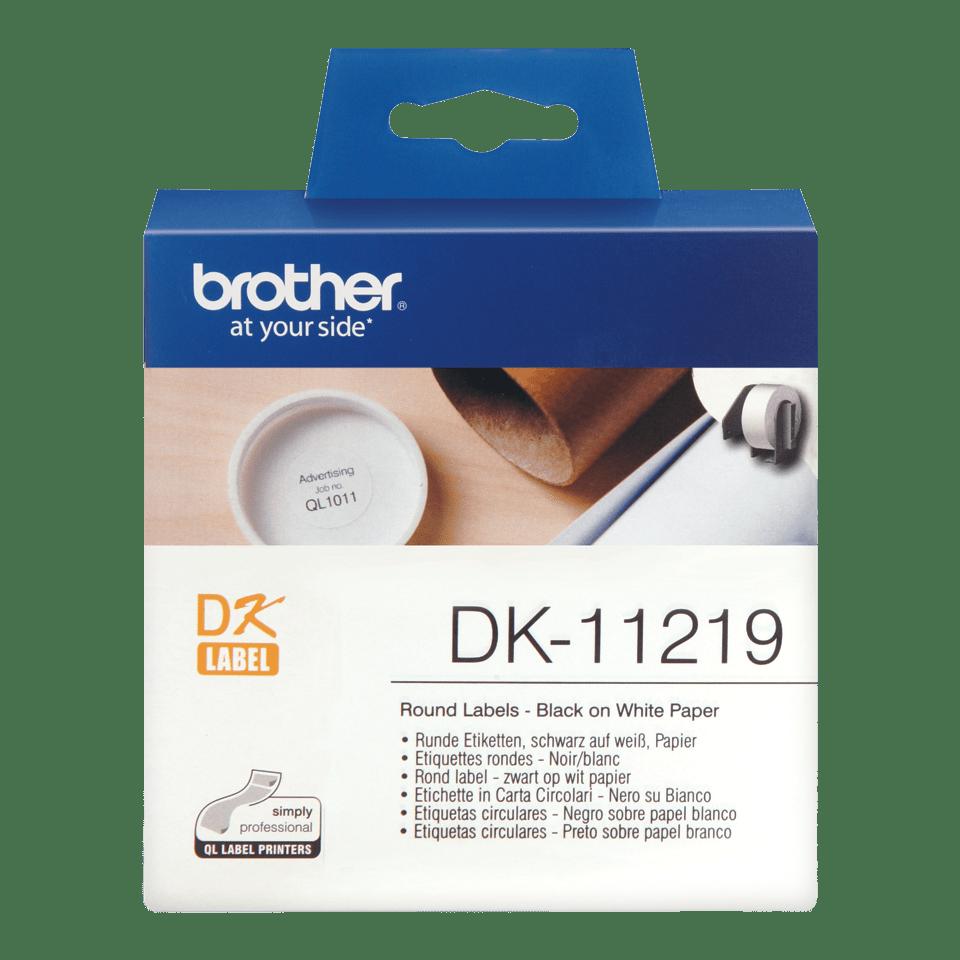 Brotherin alkuperäinen DK11219-rullatarra – musta/valkoinen
