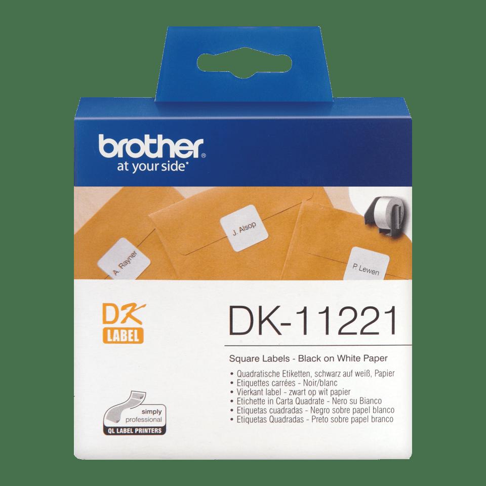 Brotherin alkuperäinen DK11221-rullatarra – Musta/valkoinen