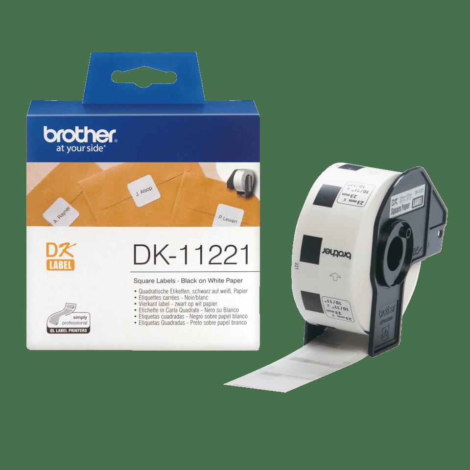 Brotherin alkuperäinen DK11221-rullatarra – Musta/valkoinen 3