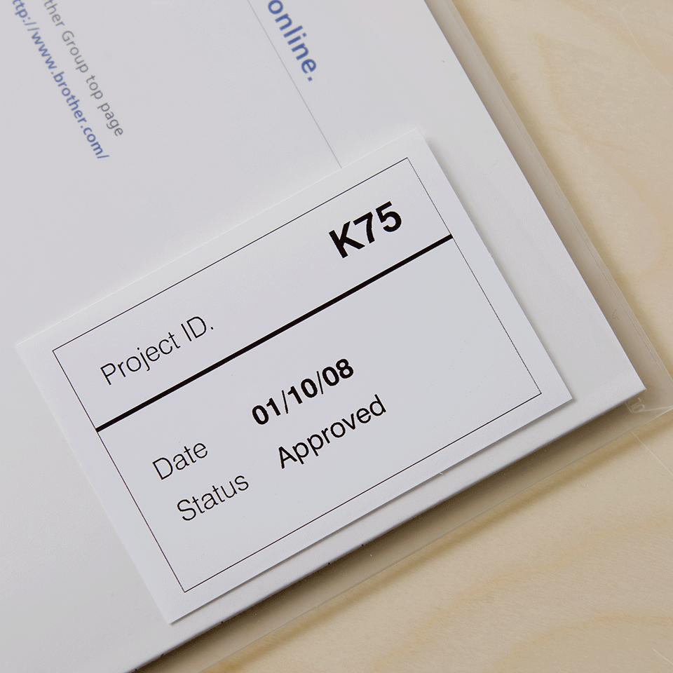 Brotherin alkuperäinen DK22212-rullatarra (filmiä) - Musta/valkoinen, 62 mm  2