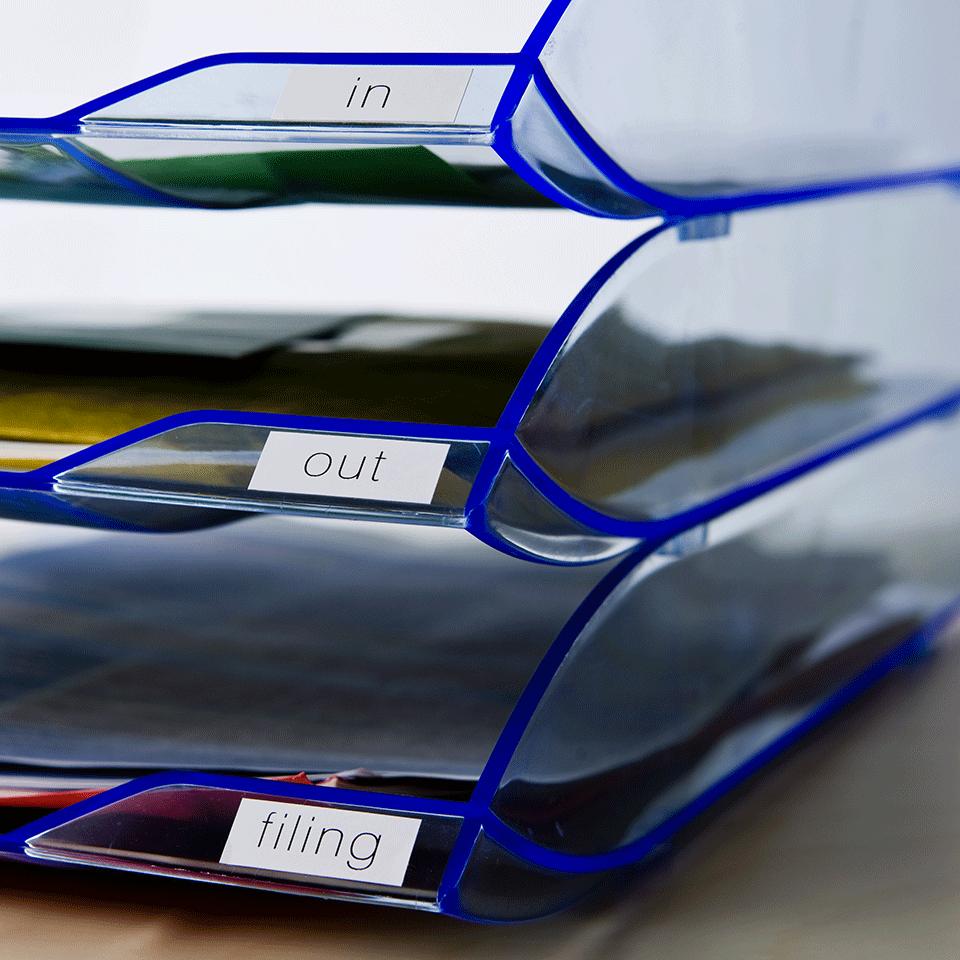 Brotherin alkuperäinen DK22214-rullatarra – Musta/valkoinen, 12 mm 2