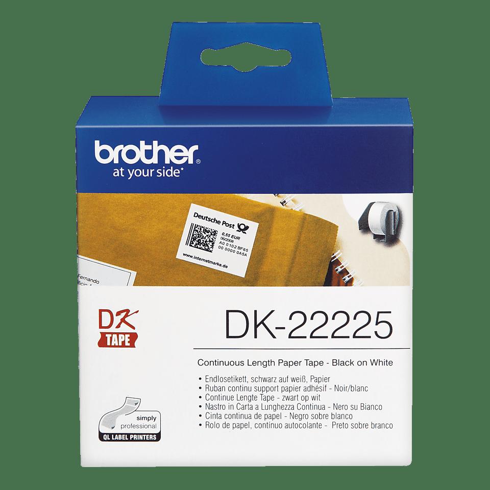 Brotherin alkuperäinen DK22225-rullatarra – Musta/valkoinen, 38 mm 2