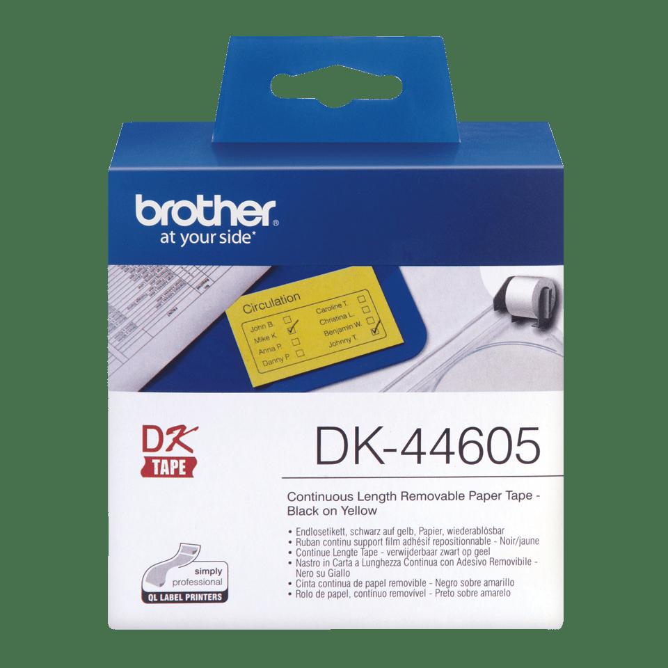 Brotherin alkuperäinen DK44605-rullatarra - Musta/keltainen