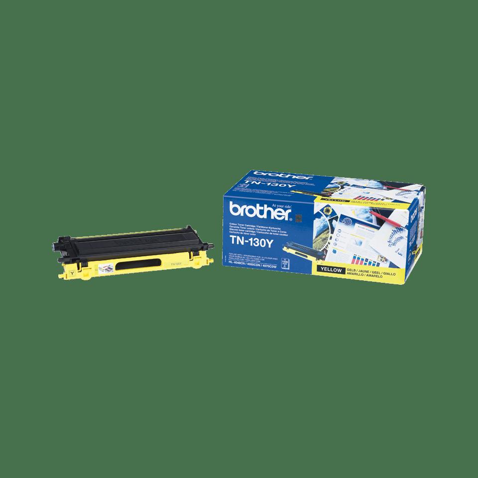 Brotherin alkuperäinen TN130Y-laservärikasetti – Keltainen 2