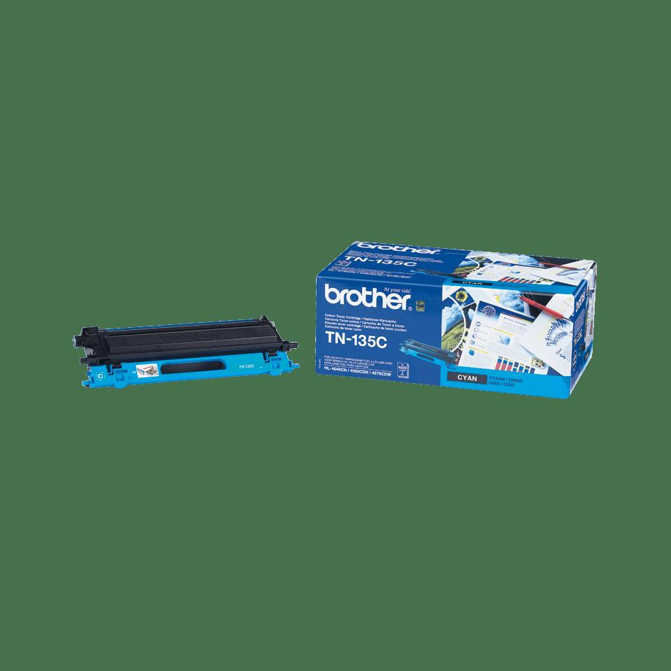 Brotherin alkuperäinen TN135C-laservärikasetti – Syaani