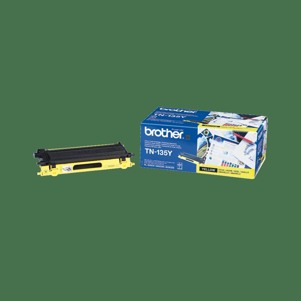 Brotherin alkuperäinen TN135Y laservärikasetti - Keltainen 2