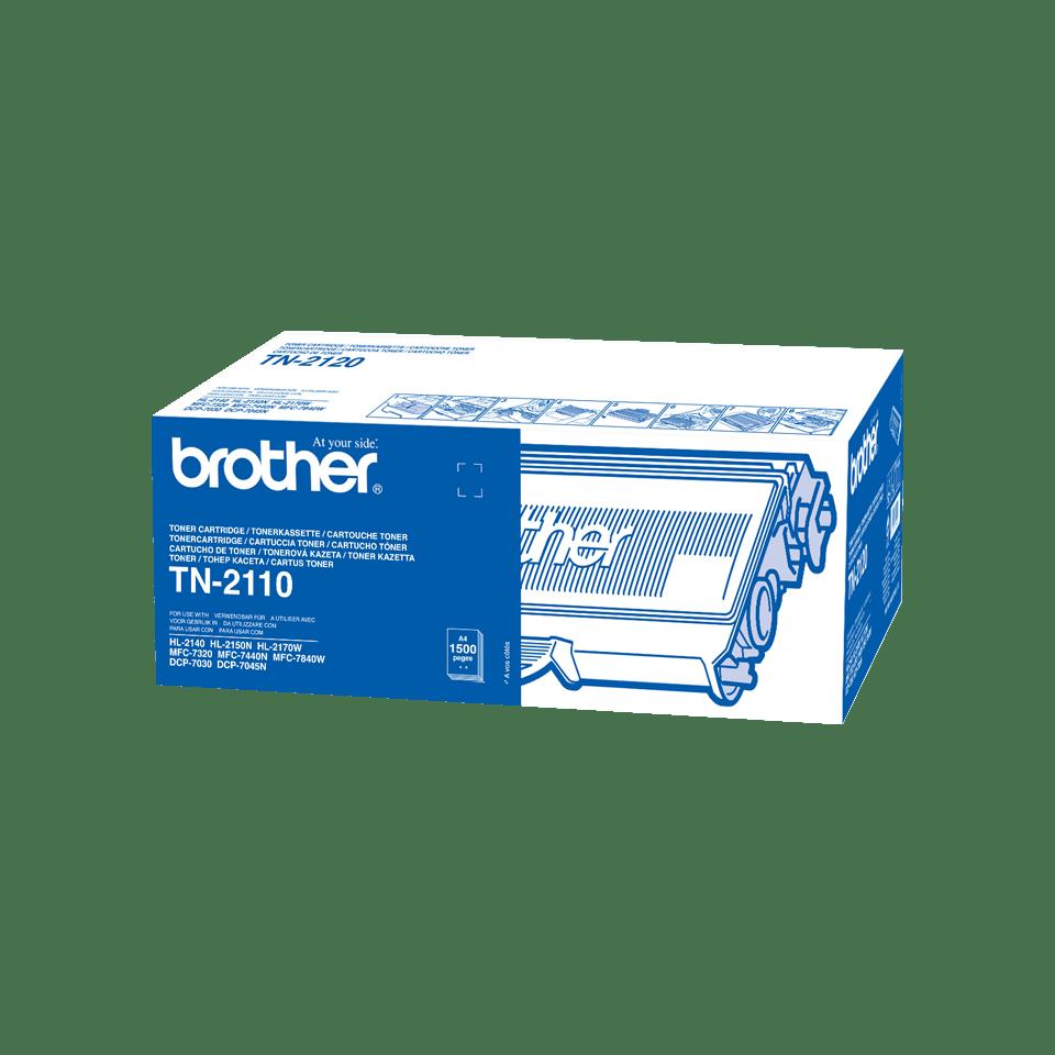 Brotherin alkuperäinen TN2110-laservärikasetti – Musta
