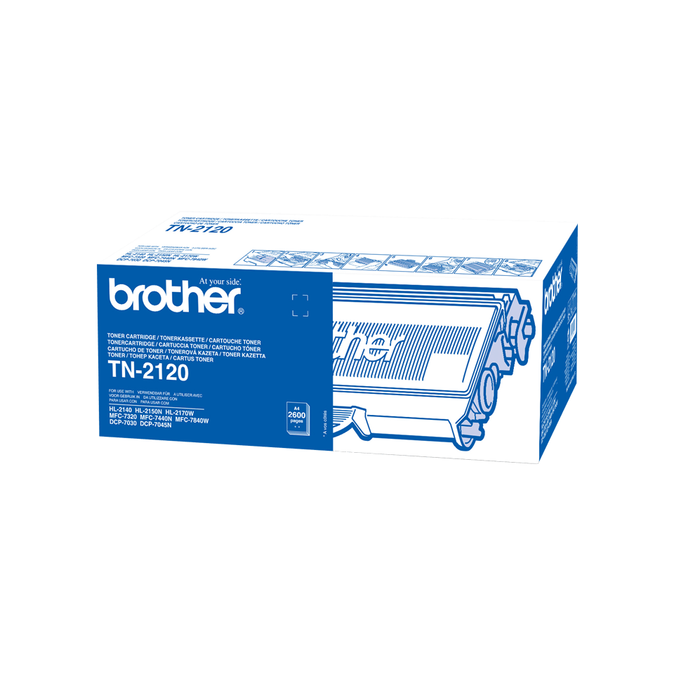 Brotherin alkuperäinen TN2120-suurvärikasetti - Musta 2
