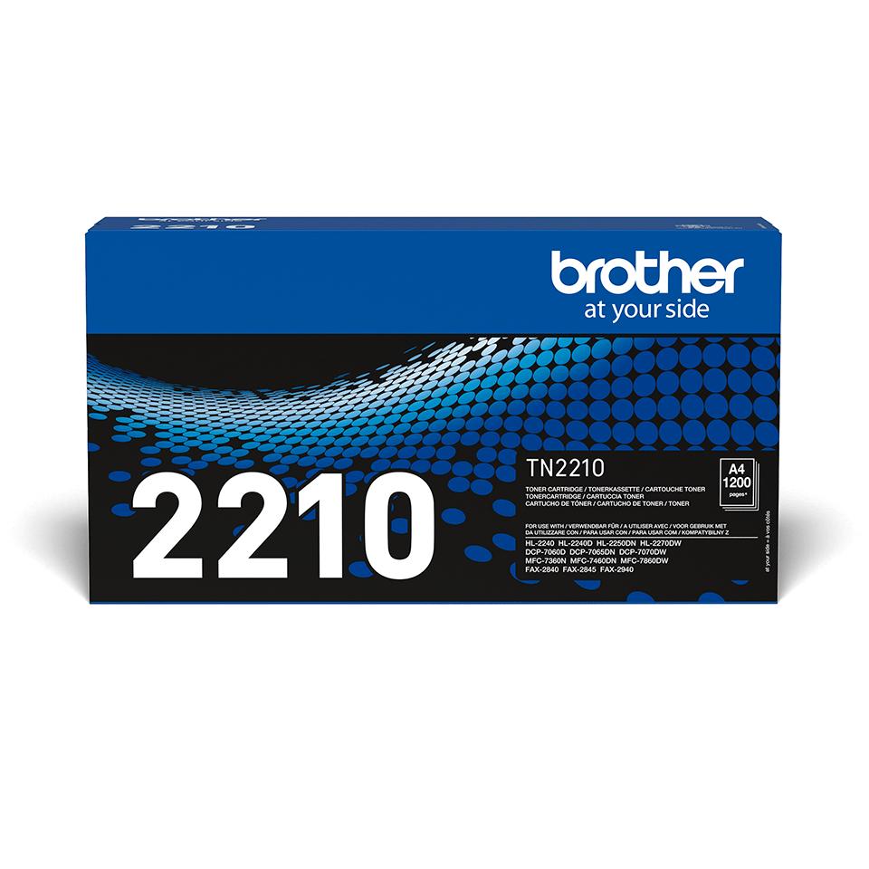 Brotherin alkuperäinen TN2210-laservärikasetti - Musta