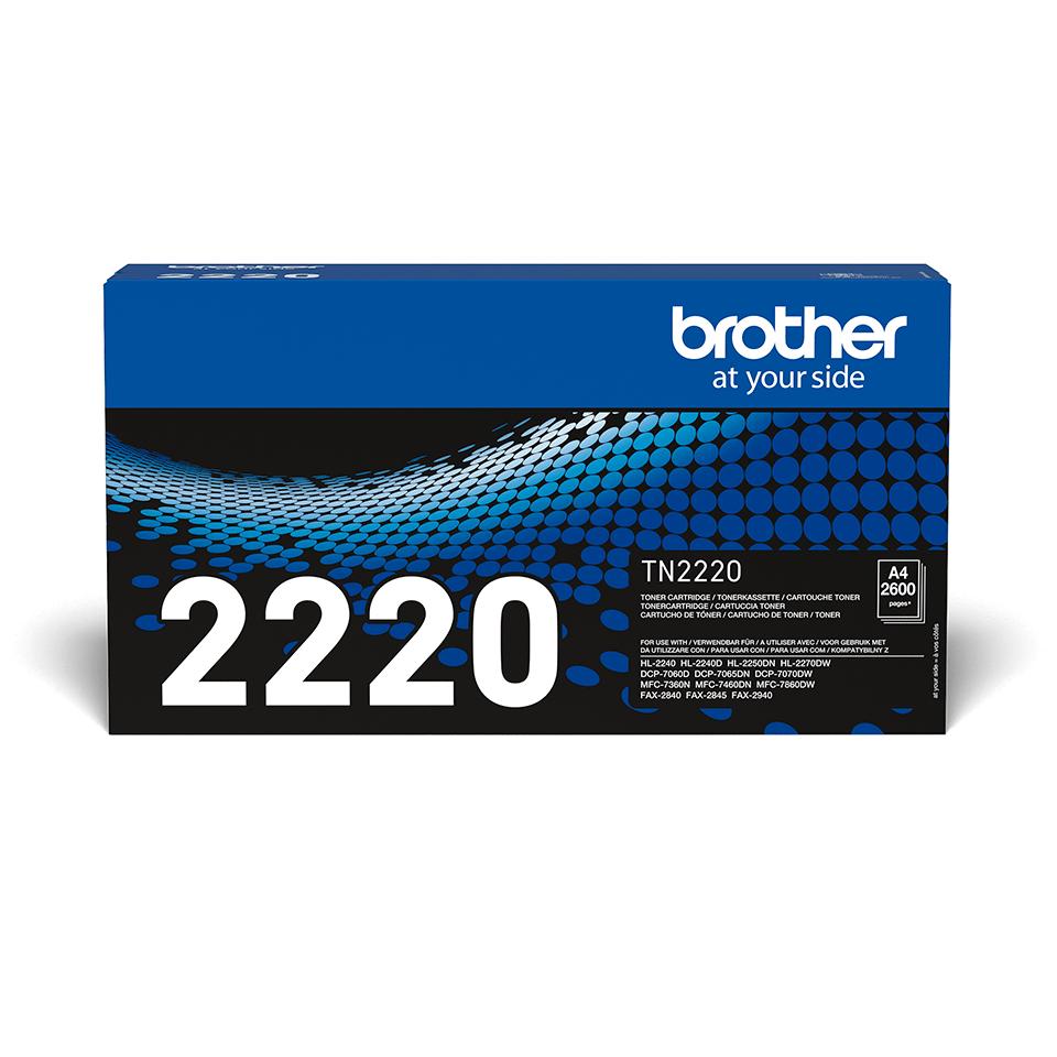 Brotherin alkuperäinen TN2220-suurvärikasetti - Musta 2