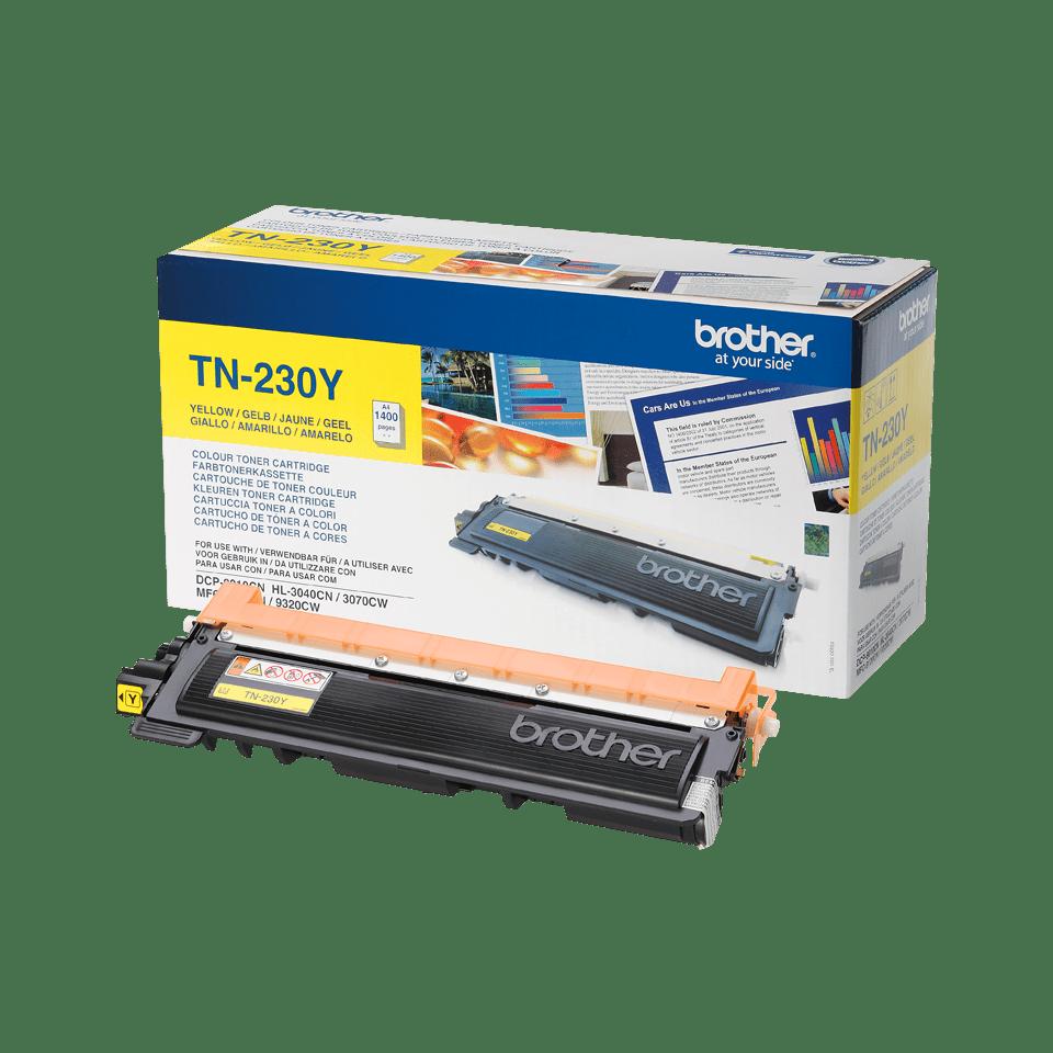 Brotherin alkuperäinen TN230Y-laservärikasetti – Keltainen 2