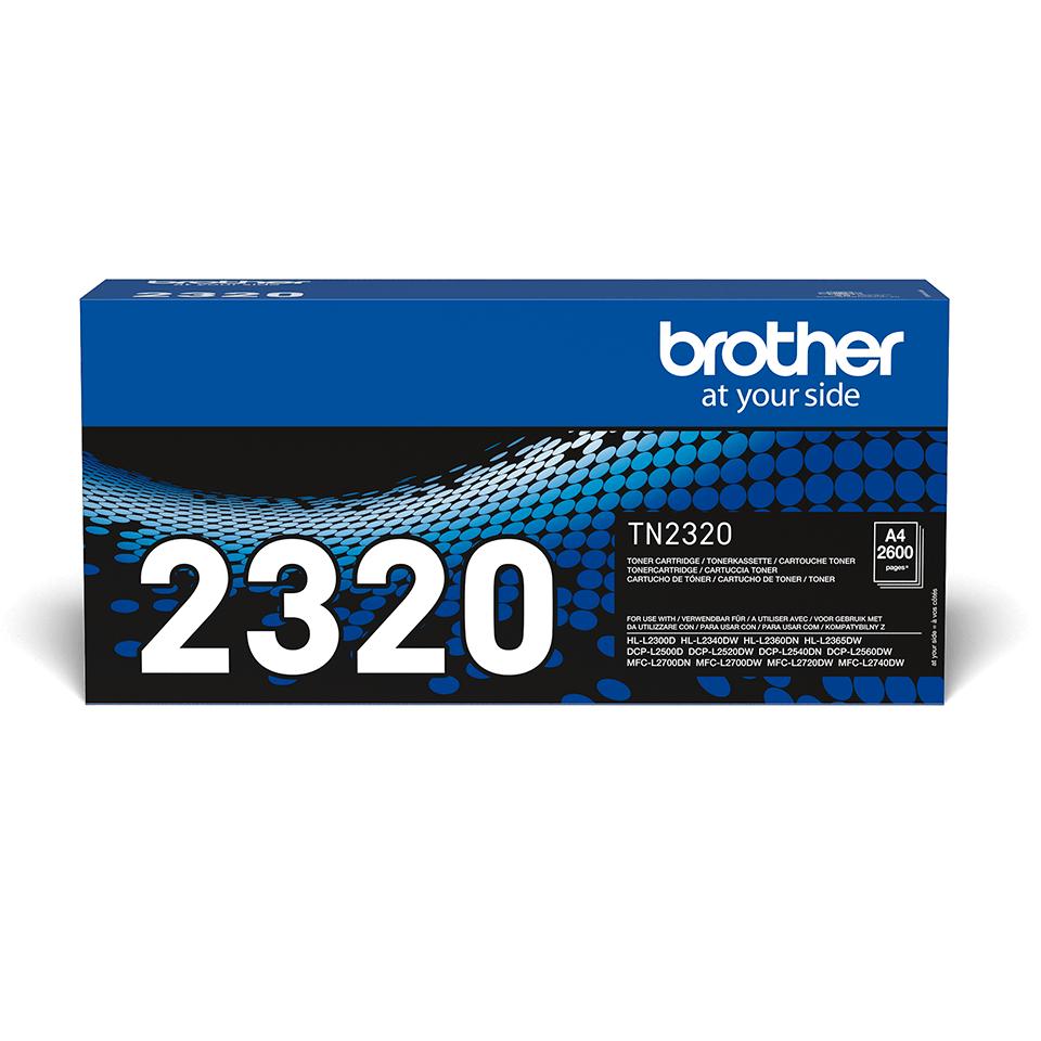 Brotherin alkuperäinen TN2320 suurvärikasetti - Musta