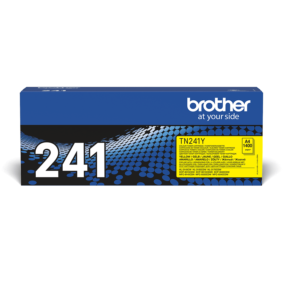 Brotherin alkuperäinen TN241Y-laservärikasetti – Keltainen 2