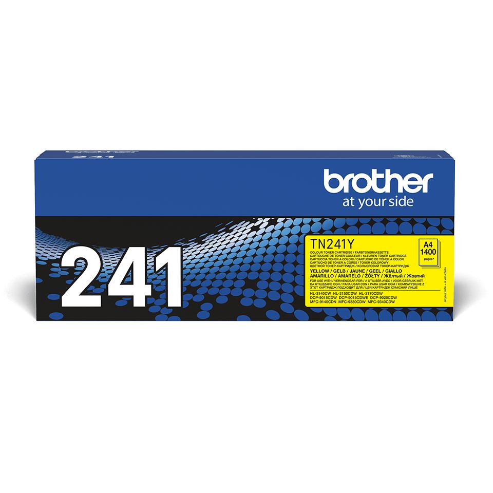 Brotherin alkuperäinen TN241Y-laservärikasetti – Keltainen