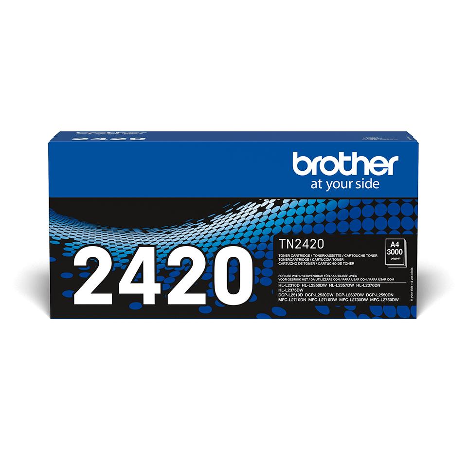 Brotherin alkuperäinen TN2420 suurvärikasetti - Musta 0