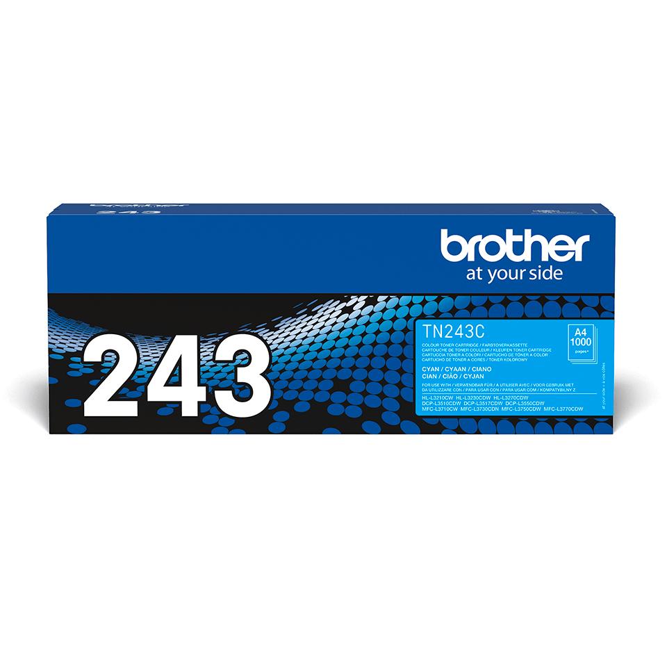Brotherin alkuperäinen TN243C-laservärikasetti - Syaani