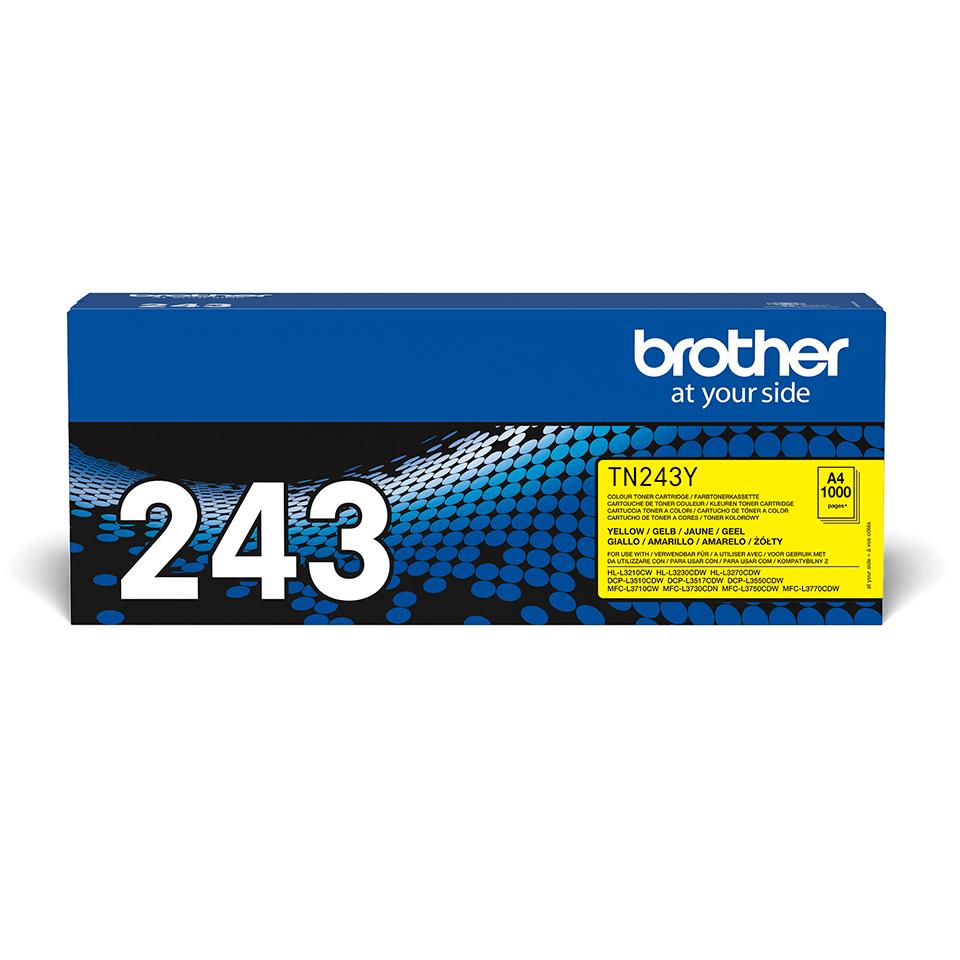 Brotherin alkuperäinen TN243Y-laservärikasetti - Keltainen