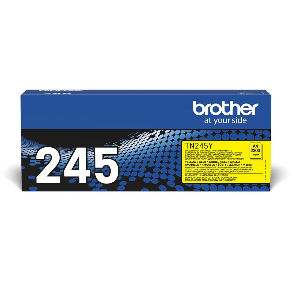 Brotherin alkuperäinen TN245Y-laservärikasetti – Keltainen 2
