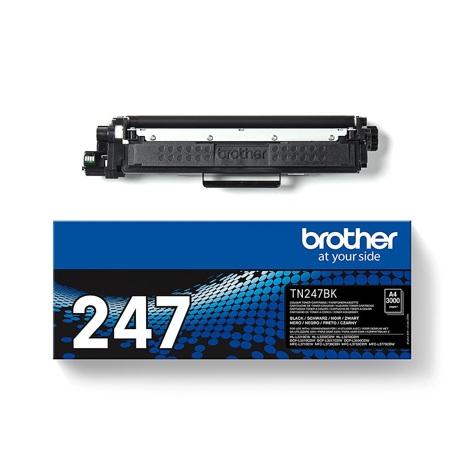 Brotherin alkuperäinen TN247BK-suurvärikasetti - Musta 3