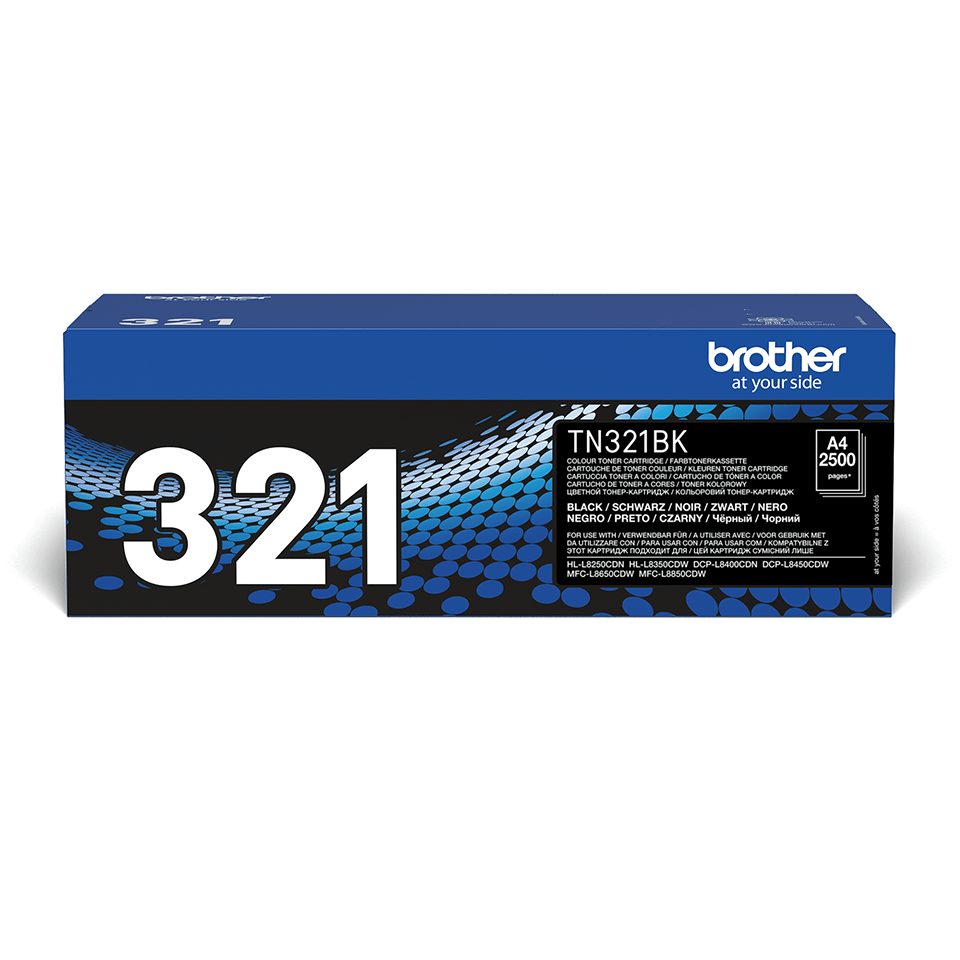 Brotherin alkuperäinen TN321BK-laservärikasetti – Musta