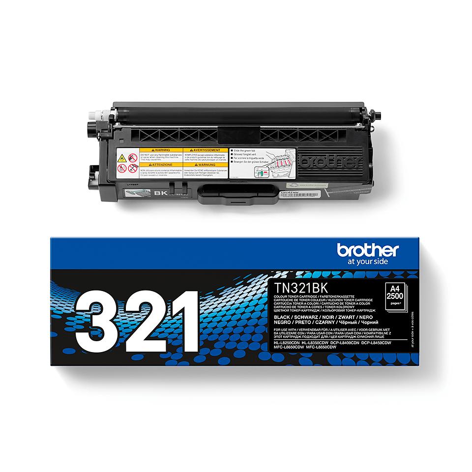 Brotherin alkuperäinen TN321BK-laservärikasetti – Musta 2