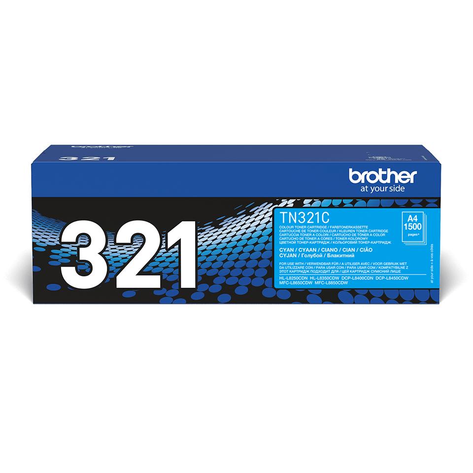 Brotherin alkuperäinen TN321C-laservärikasetti – Syaani