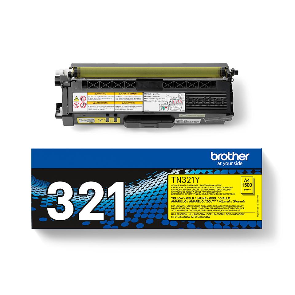 Brotherin alkuperäinen TN321Y-laservärikasetti - Keltainen 2