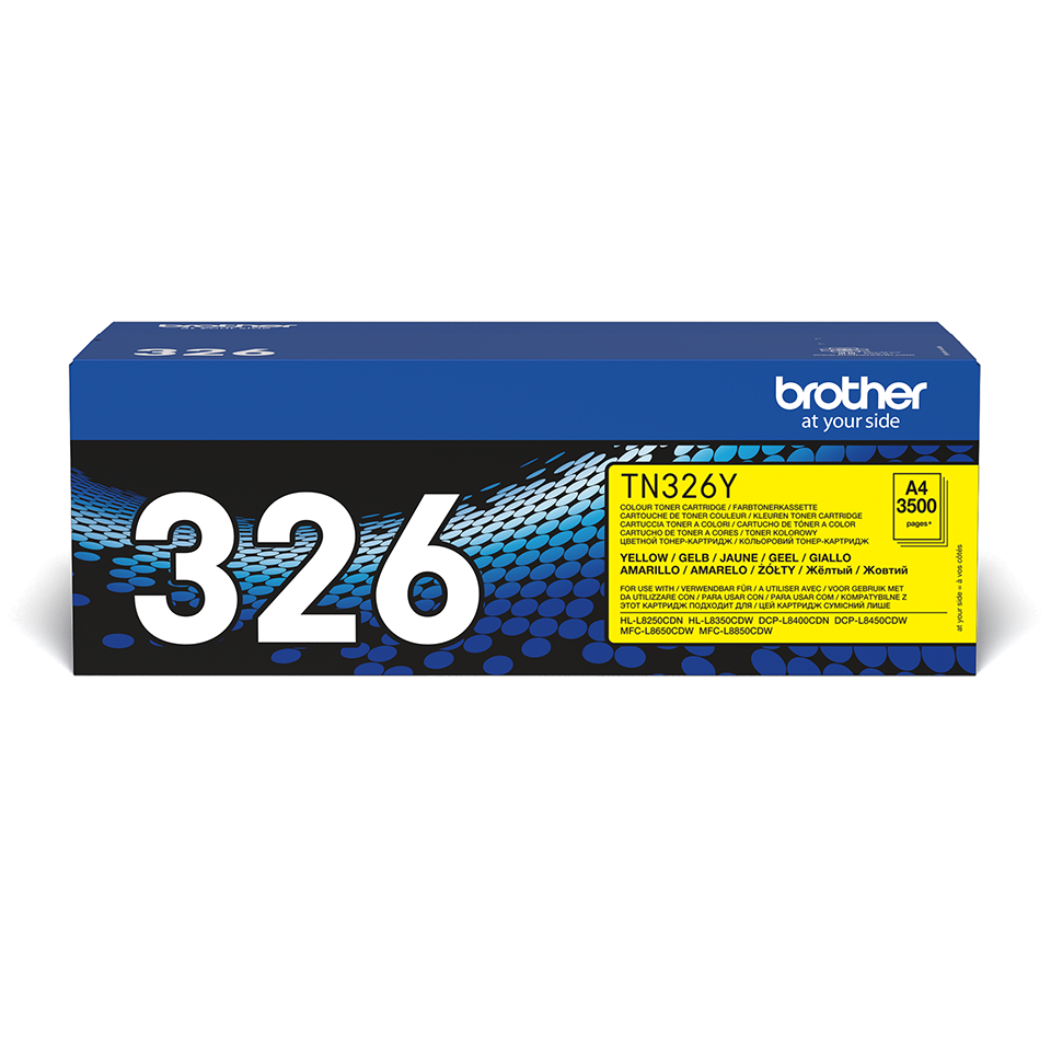 Brotherin alkuperäinen TN326Y-suurvärikasetti – Keltainen