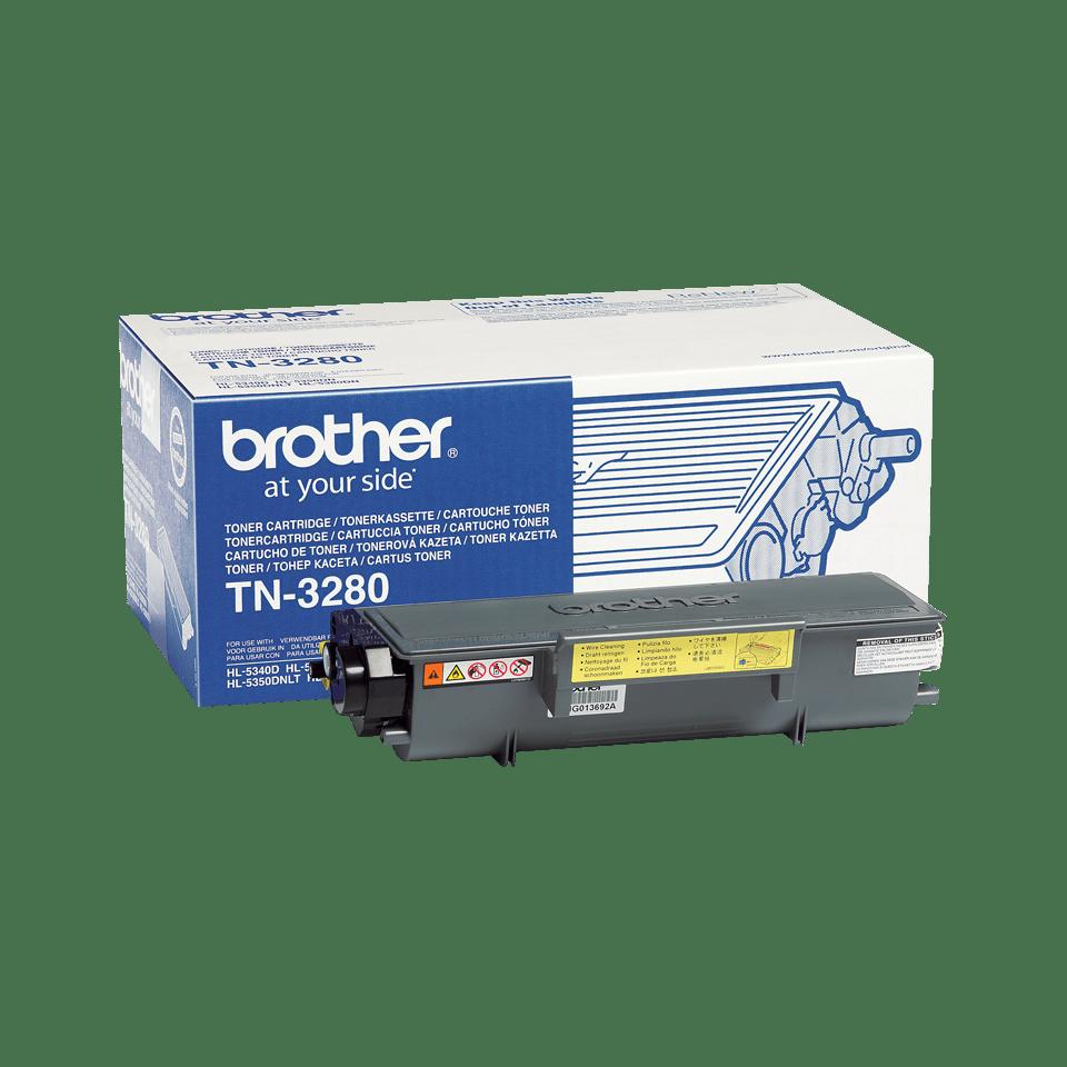 Brotherin alkuperäinen TN3280-suurvärikasetti - Musta