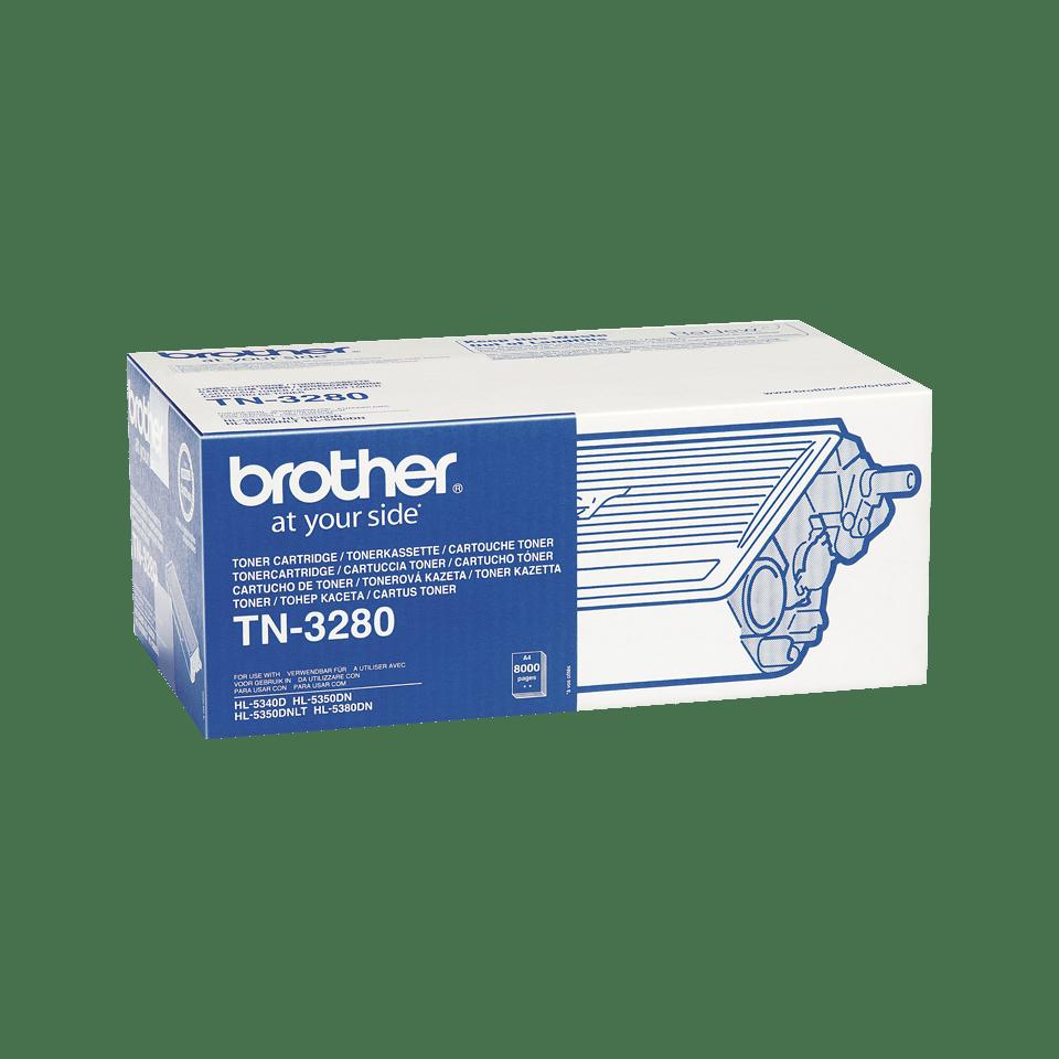 Brotherin alkuperäinen TN3280 suurvärikasetti - Musta 2
