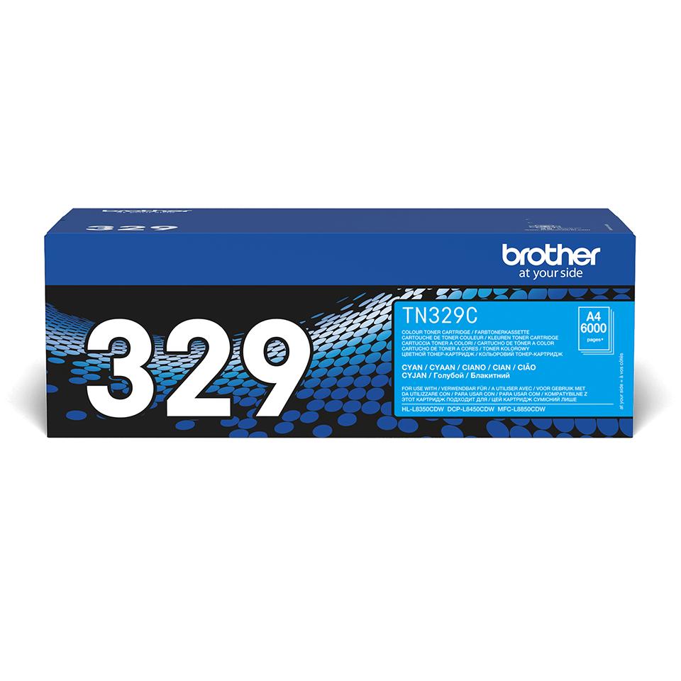 Brotherin alkuperäinen TN329C-laservärikasetti – Syaani