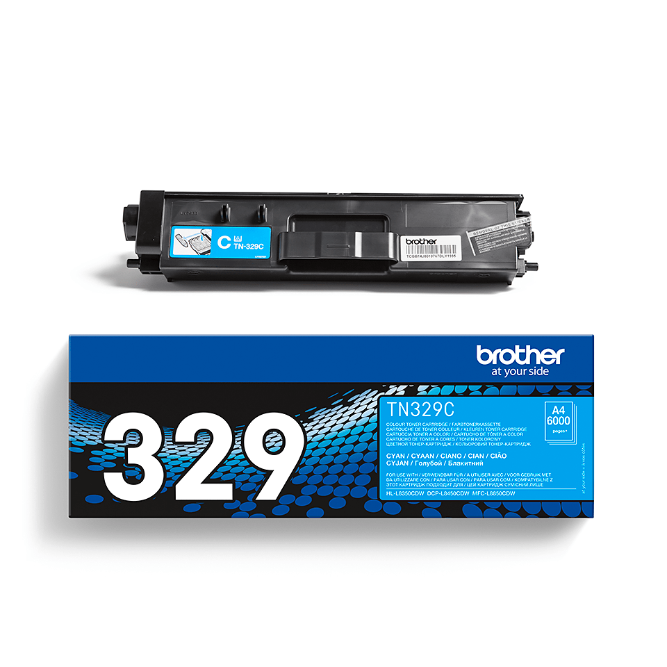 Brotherin alkuperäinen TN329C-laservärikasetti – Syaani 2