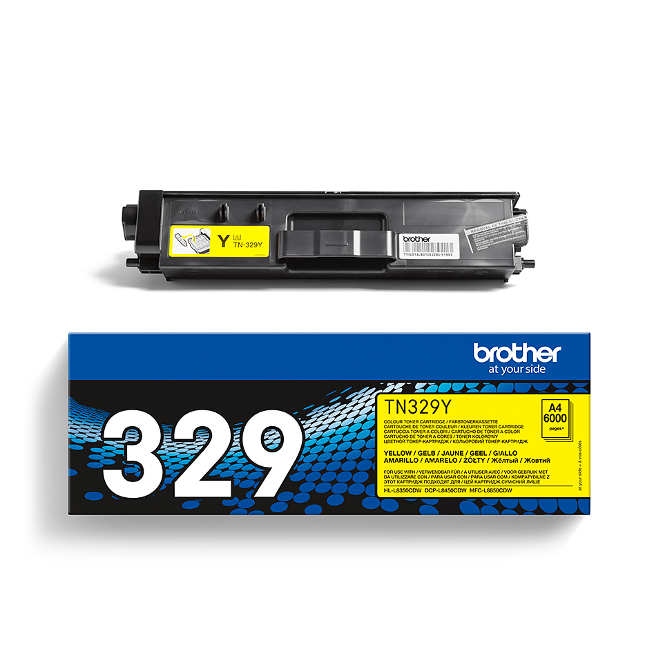 Brotherin alkuperäinen TN329Y-laservärikasetti – Keltainen 2