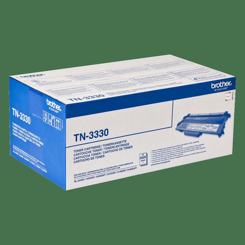 Brotherin alkuperäinen TN3330-laservärikasetti - Musta