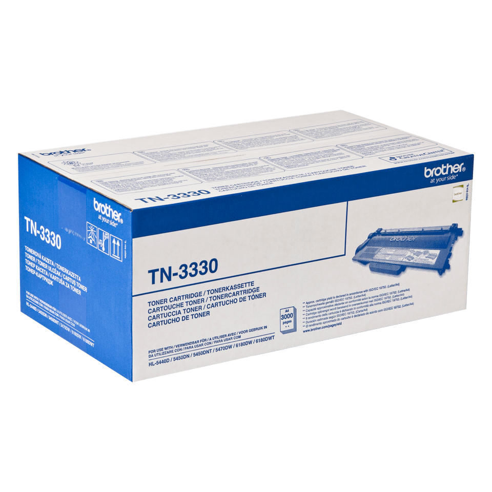 Brotherin alkuperäinen TN3330-laservärikasetti - Musta 2