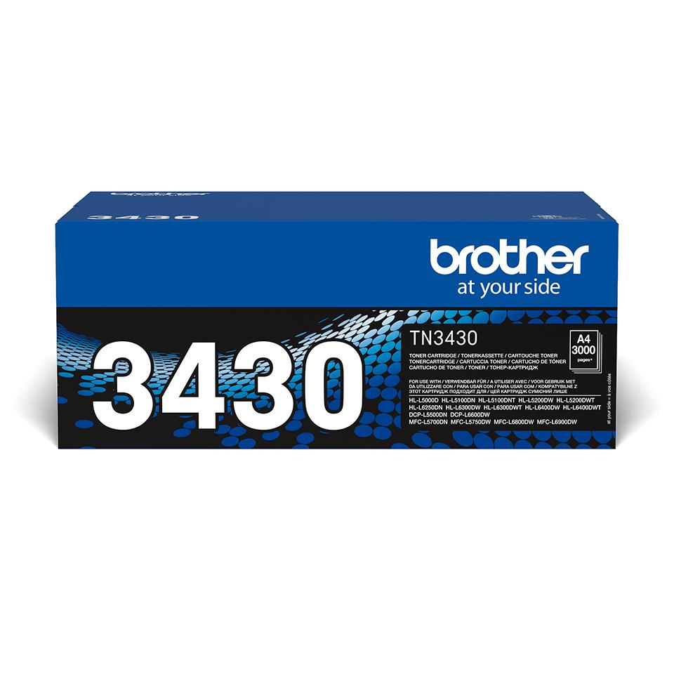 Brotherin alkuperäinen TN3430-laservärikasetti – Musta