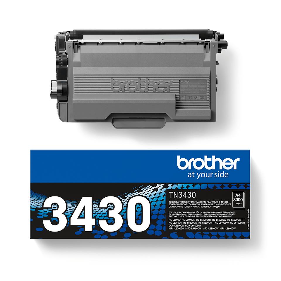 Brotherin alkuperäinen TN3430-laservärikasetti – Musta 2