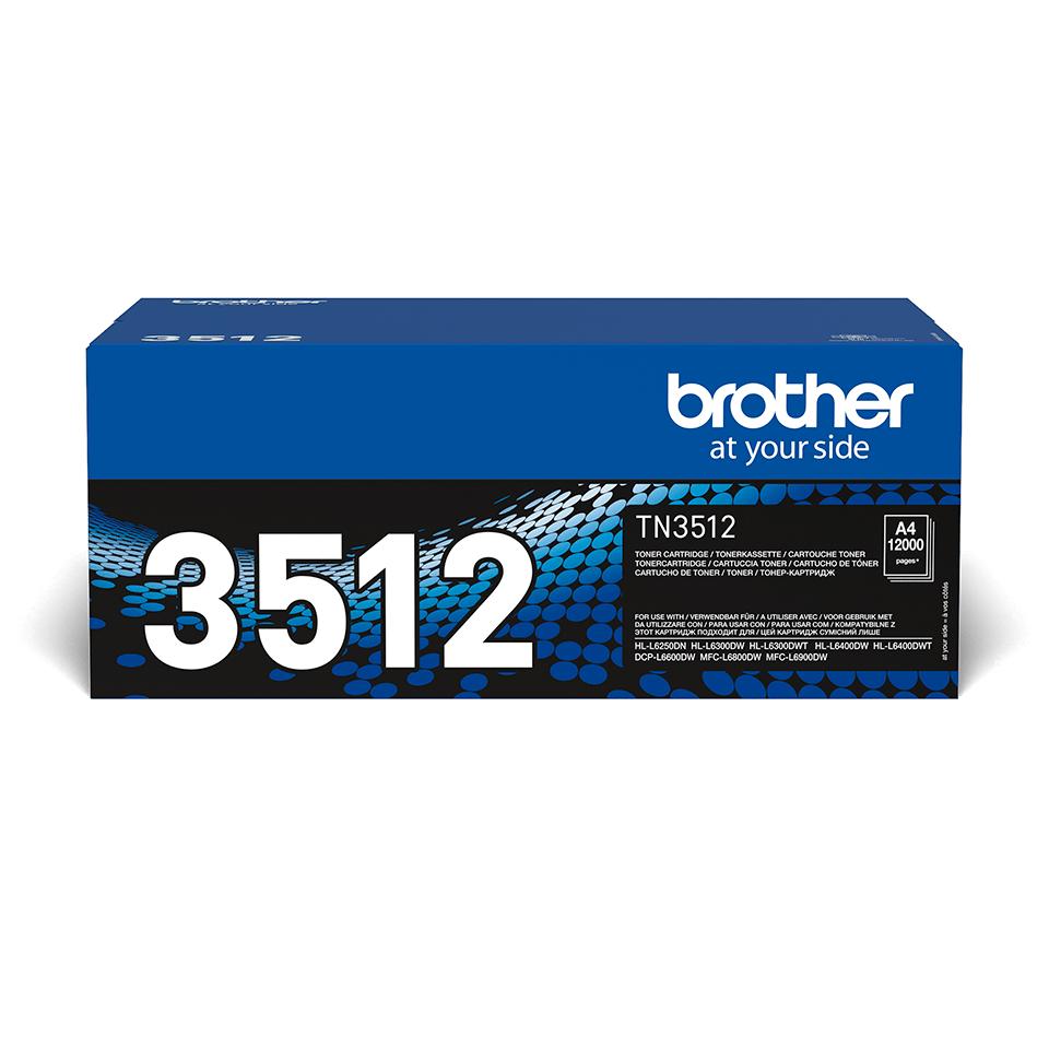 Brotherin alkuperäinen TN3512-suurvärikasetti - Musta