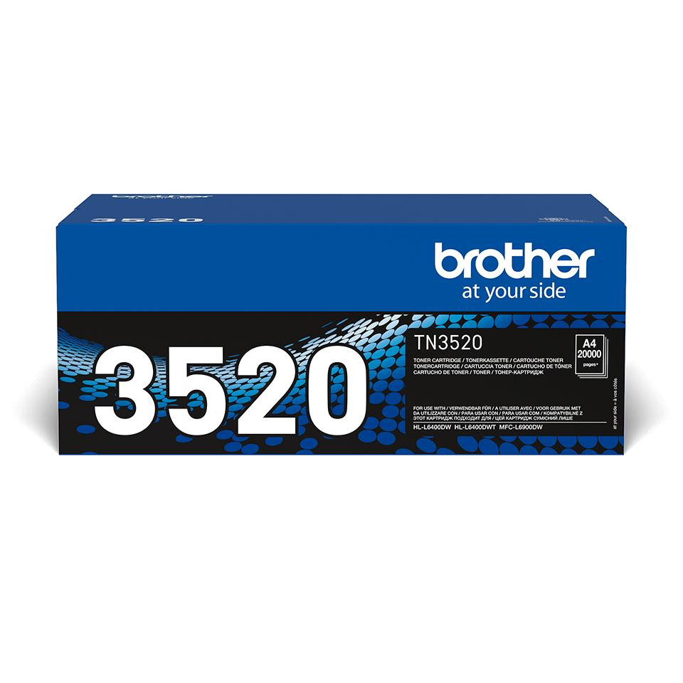 Brotherin alkuperäinen TN3520 jättivärikasetti - Musta